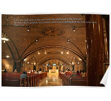Lord, who shall abide in Thy tabernacle Poster