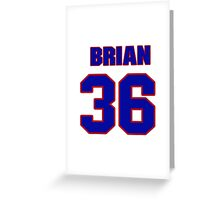 National Hockey player Brian Loney jersey 36 Greeting Card