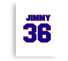 National Hockey player Jimmy Waite jersey 36 Canvas Print
