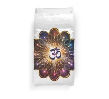 """The higher power of Om"" - sacred geometry Duvet Cover"