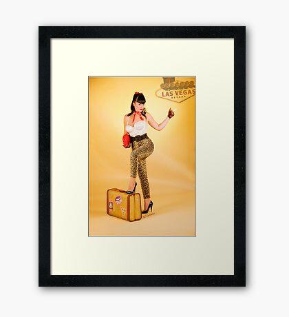 Vegas or Bust Framed Print