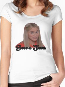 Sure Jan Women's Fitted Scoop T-Shirt