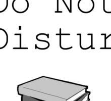 Reading: Do Not Disturb Sticker