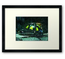 Fire Fighter's Helmet Framed Print