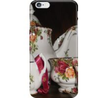 Royal Albert- Country Rose Tea Set iPhone Case/Skin