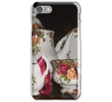 Royal Albert- Country Rose Tea Set iPhone Case/Skin