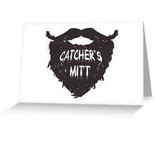 This mitt is for a different kind of catching.  Greeting Card