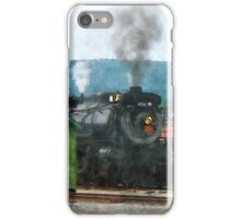 Steam Engine Coming into Train Yard iPhone Case/Skin