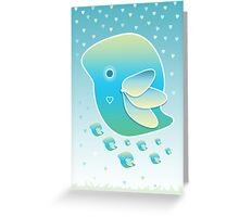 Blue Bird of Happiness Family Greeting Card