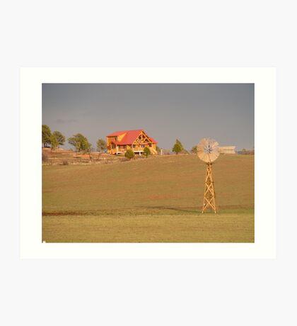 Prairie Windmill Art Print