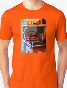 Copper Tea Kettle on Stove Unisex T-Shirt