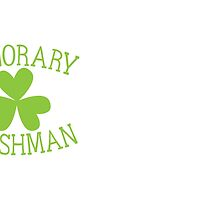 Honorary Irishman with green shamrock by jazzydevil