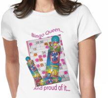 Bingo Queen Womens Fitted T-Shirt