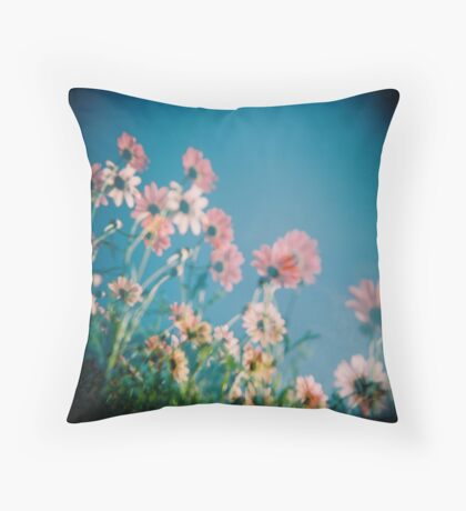 Daisy Ghosts Throw Pillow