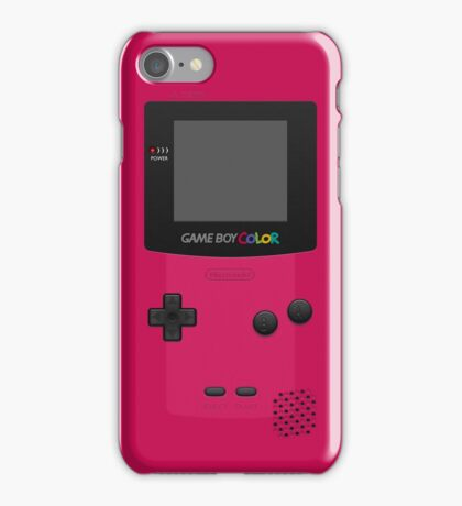 Pink Nintendo Gameboy Color iPhone Case/Skin