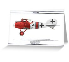 Albatros D.V Jasta 18 - 4 Greeting Card