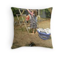 Melbourne Backyard in January  Throw Pillow