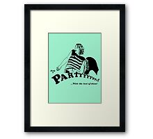 Ready to Party Framed Print