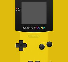 Yellow Nintendo Gameboy Color by Jen *