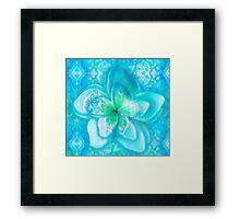 aqua frangipani glow seascape Framed Print