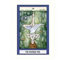 The Hanged One Tarot Card Art Print
