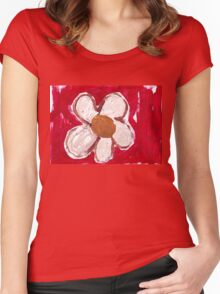 Note Flower Women's Fitted Scoop T-Shirt