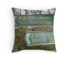 Country Signpost Throw Pillow