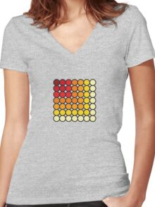 Ever-decreasing colours Women's Fitted V-Neck T-Shirt