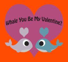 Whale You Be My Valentine? Kids Tee