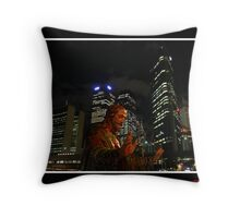 be silence!listen to your heart Throw Pillow