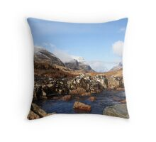 Fine winter's day in Glencoe. Throw Pillow