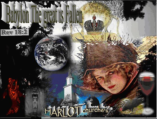 Harlot Churches by RealPainter