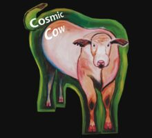 Cosmic Cow T-Shirt and Sticker by Scott Plaster