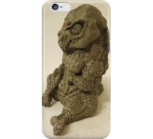 Crocodilian sculpture (front) iPhone Case/Skin