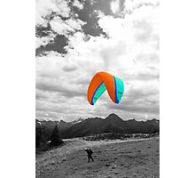 Paragliding Photographic Print