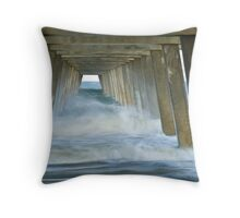 Tybee Pier Incoming Tide 1 Throw Pillow