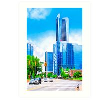 Towering Over The Buckhead Skyline - Atlanta Art Print