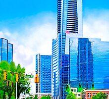 Towering Over The Buckhead Skyline - Atlanta by Mark Tisdale