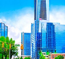 Towering Over The Buckhead Skyline - Atlanta by Mark Tisdale