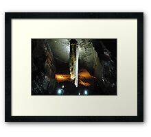 Stalactite in Doolin Cave, Ireland measuring 20ft (6.54m) long Framed Print
