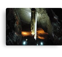 Stalactite in Doolin Cave, Ireland measuring 20ft (6.54m) long Canvas Print
