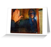 Man In The Mirror - Self Portrait Greeting Card