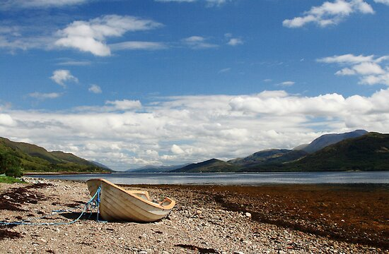 Loch Linnhe from Ardgour. by John Cameron