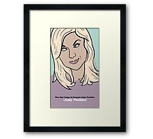 Amy Poehler Framed Print
