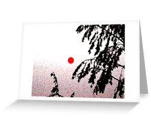 Bushfire sunset Greeting Card