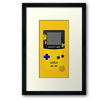 Pokemon Pikachu and Pichu Nintendo Gameboy Color Framed Print