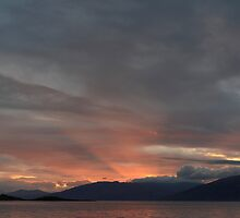 Sunset from Cuil Bay,Duror. by John Cameron