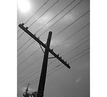 Crossed Wires Photographic Print