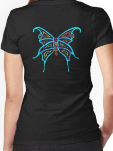 Madame Butterfly Women's Fitted V-Neck T-Shirt