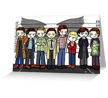 SuperWhoLock Lineup Greeting Card